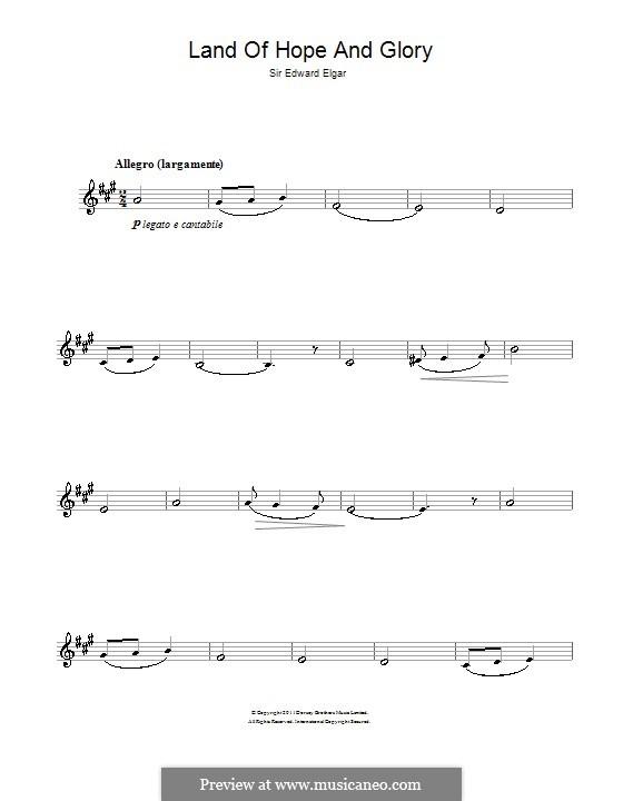 March No.1: Trio, for clarinet by Edward Elgar