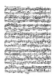 Choirs: Book III. Arrangement for Piano by Johann Sebastian Bach