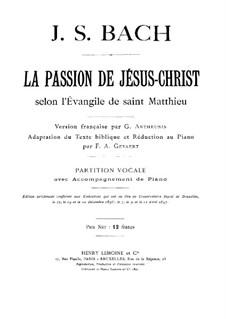 Complete Oratorio: For choir and piano by Johann Sebastian Bach