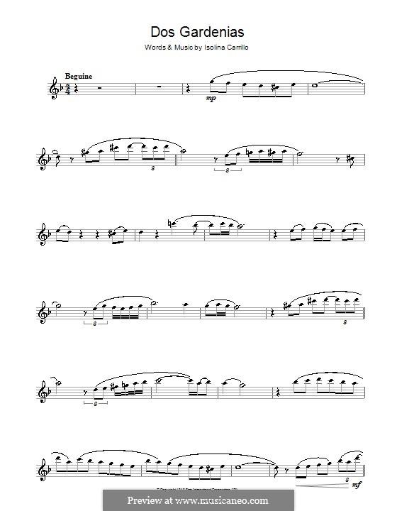 Dos Gardenias (The Buena Vista Social Club): For flute by Isolina Carrillo