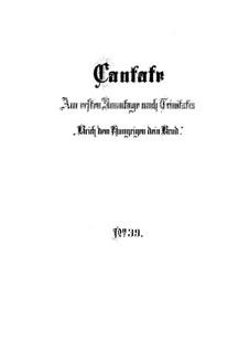 Brich dem Hungrigen dein Brot (Break Your Bread with the Hungry), BWV 39: Full score by Johann Sebastian Bach