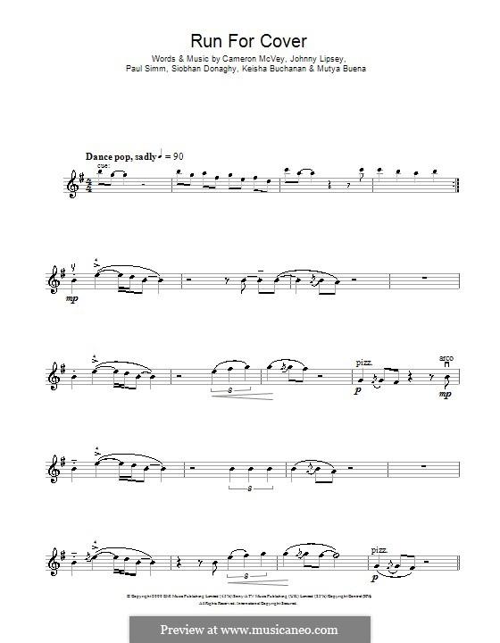 Run for Cover (Sugababes): For violin by Cameron McVey, Jonathan Lipsey, Keisha Buchanan, Mutya Buena, Paul Simm, Siobhan Donaghy