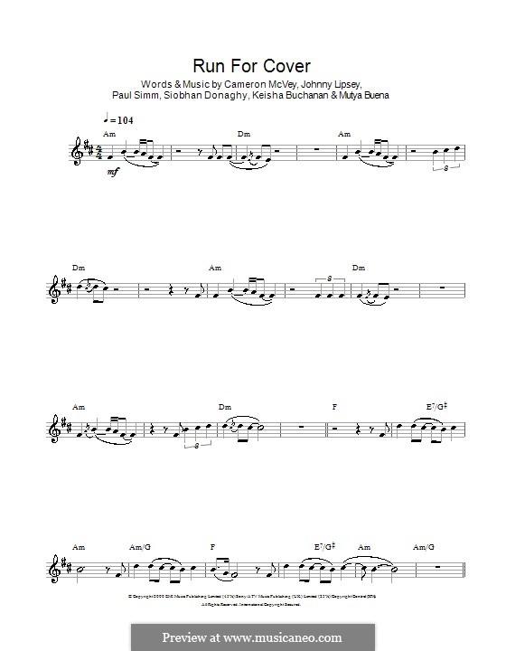 Run for Cover (Sugababes): For clarinet by Cameron McVey, Jonathan Lipsey, Keisha Buchanan, Mutya Buena, Paul Simm, Siobhan Donaghy