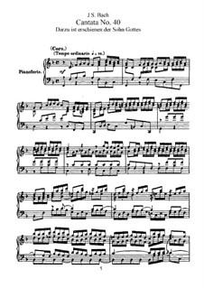 Dazu ist erschienen der Sohn Gottes, BWV 40: Arrangement for voices and piano by Johann Sebastian Bach