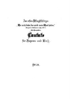 Wer mich liebet, der wird mein Wort halten, BWV 59: Full score by Johann Sebastian Bach