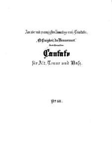 O Ewigkeit, du Donnerwort, BWV 60: Full score by Johann Sebastian Bach