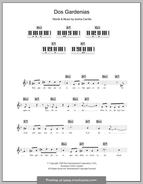 Dos Gardenias (The Buena Vista Social Club): For keyboard by Isolina Carrillo