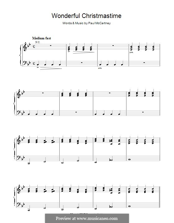 Wonderful Christmastime: For voice and piano by Paul McCartney