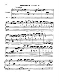 Prelude and Fugue No.6 in A Major, BWV 536: For organ by Johann Sebastian Bach