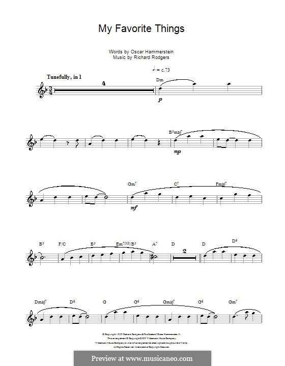 My Favorite Things (from The Sound of Music): For flute by Richard Rodgers