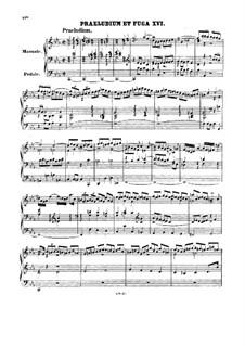 Prelude and Fugue No.16 in C Minor, BWV 546: For organ by Johann Sebastian Bach