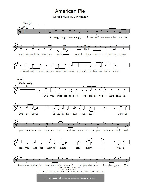 American Pie (Madonna): For violin by Don McLean