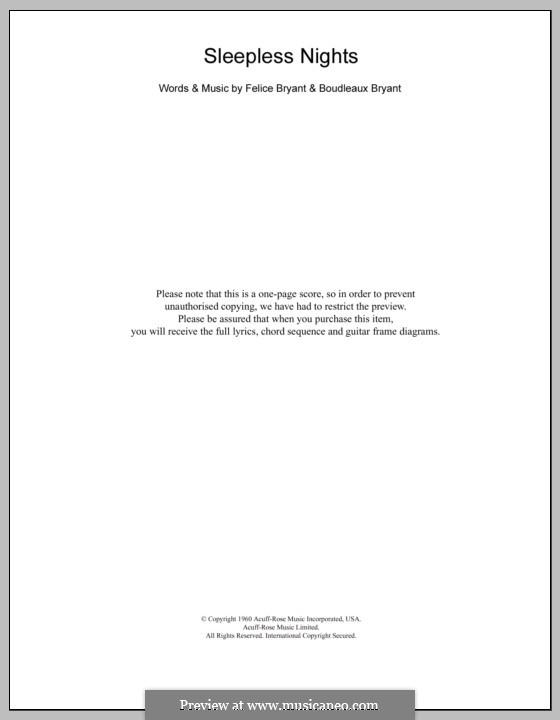 Sleepless Nights Emmylou Harris By B Bryant F Bryant On Musicaneo