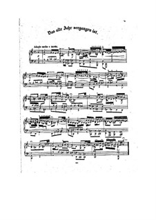 Das alte Jahr vergangen ist (The Old Year Has Passed Away), BWV 614 : For piano by Johann Sebastian Bach