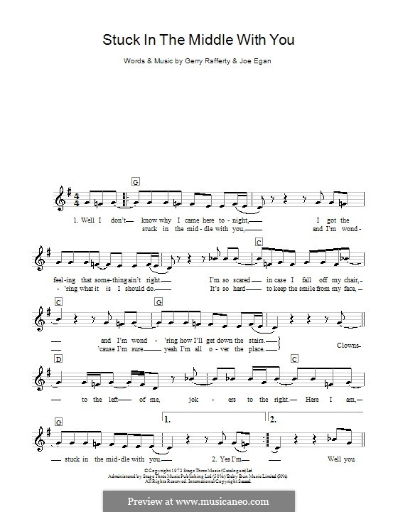 Stuck in the Middle with You (Stealers Wheel): For keyboard by Gerry Rafferty, Joe Egan