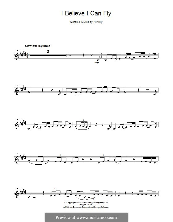 I Believe I Can Fly: For clarinet by Robert Kelly