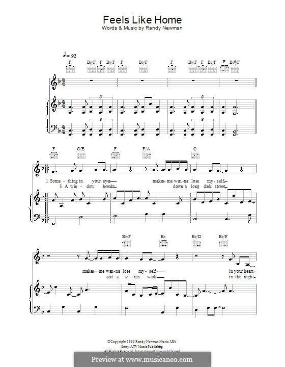 Feels Like Home: For voice and piano (or guitar) by Randy Newman
