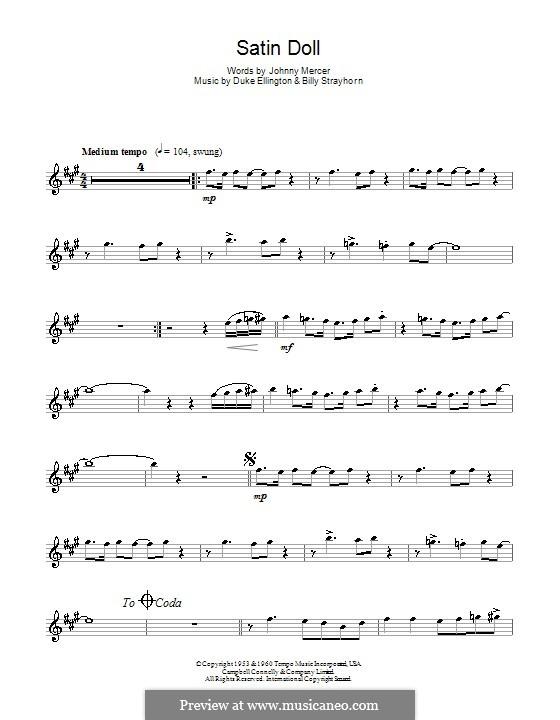 Satin Doll: For alto saxophone by Billy Strayhorn, Duke Ellington
