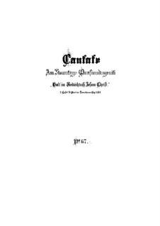 Halt im Gedächtnis Jesum Christ (Hold in Remembrance Jesus Christ), BWV 67: Full score by Johann Sebastian Bach