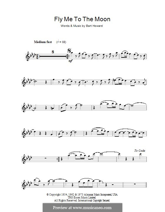 Fly Me to the Moon (In Other Words): For flute (Frank Sinatra) by Bart Howard