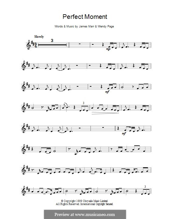 Perfect Moment: For clarinet by James Marr, Wendy Page