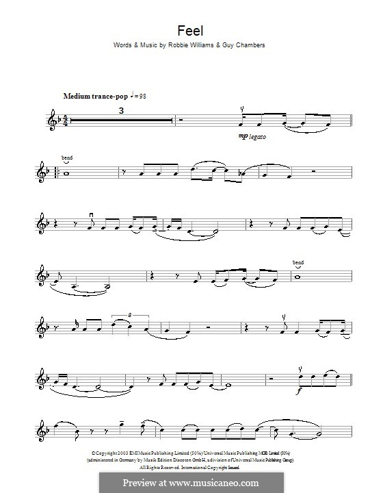 Feel: For violin by Guy Chambers, Robbie Williams