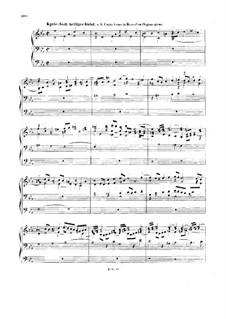 Chorale Preludes IV (German Organ Mass): Kyrie. Gott heiliger Geist (God Holy Spirit). Large Version, BWV 671 by Johann Sebastian Bach