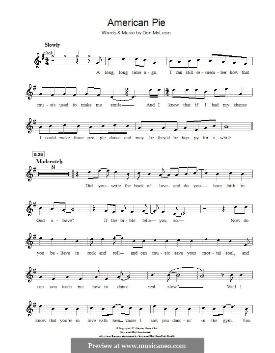 American Pie (Madonna): For flute by Don McLean