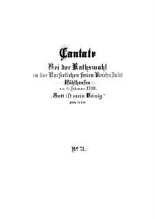 Gott ist mein König (God is My King), BWV 71: Full score by Johann Sebastian Bach