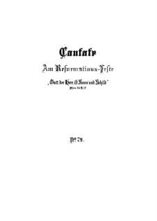 Gott der Herr ist Sonn und Schild (The Lord God is sun and shield), BWV 79: Full score by Johann Sebastian Bach
