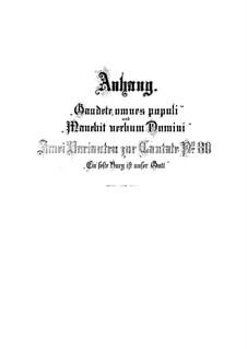 Ein' feste Burg ist unser Gott (A Mighty Fortressis Our God), BWV 80: Supplement by Johann Sebastian Bach