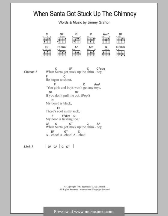 When Santa Got Stuck Up the Chimney: Lyrics and chords by Jimmy Grafton