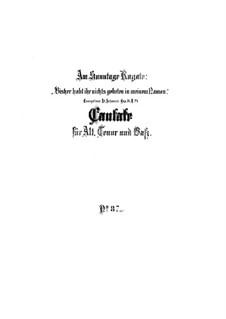 Bisher habt ihr nichts gebeten in meinem Namen, BWV 87: Full score by Johann Sebastian Bach