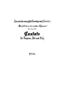 Was soll ich aus dir machen, Ephraim, BWV 89: Full score by Johann Sebastian Bach