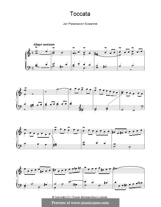Toccata (Aeolian), D.31: For piano by Jan Pieterszoon Sweelinck