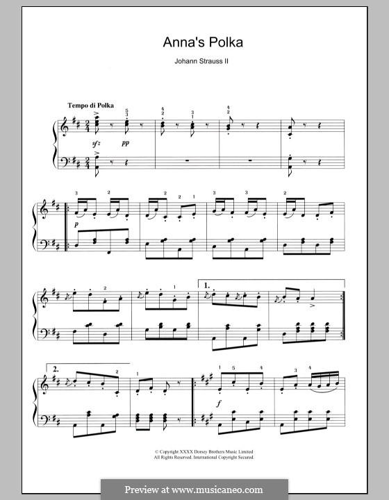 Anna's Polka: Anna's Polka by Johann Strauss (Sohn)