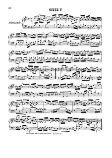 Suite No.5 in G Major, BWV 816: For harpsichord by Johann Sebastian Bach