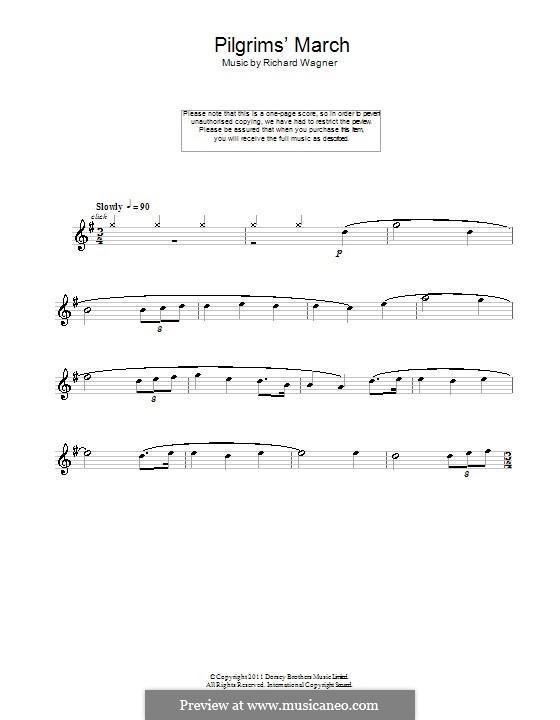 Choir of Pilgrims: For flute by Richard Wagner