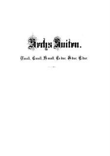 Complete set, BWV 812-817: For harpsichord by Johann Sebastian Bach