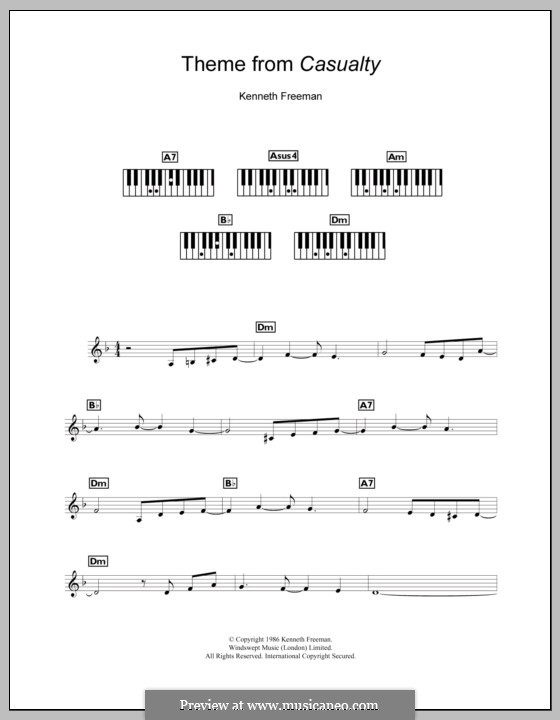 Theme from Casualty: For keyboard by Kenneth Freeman