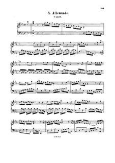 Allemande in C Minor, BWV 834: Allemande in C Minor by Johann Sebastian Bach