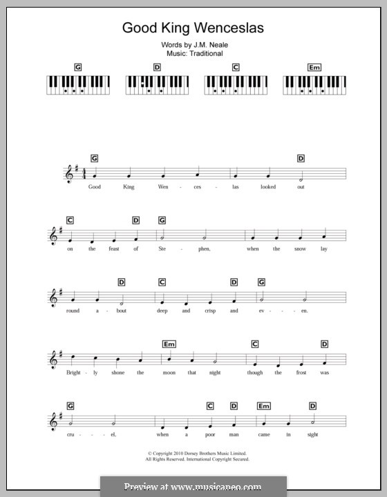 Good King Wenceslas: For keyboard by folklore