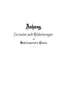 Selected Pieces: Supplement Nos.1-12 by Johann Sebastian Bach
