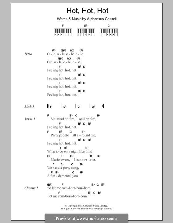 Hot Hot Hot (Arrow) by A. Cassell - sheet music on MusicaNeo