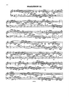 Prelude and Fugue No.11 in F Major, BWV 880: For harpsichord by Johann Sebastian Bach