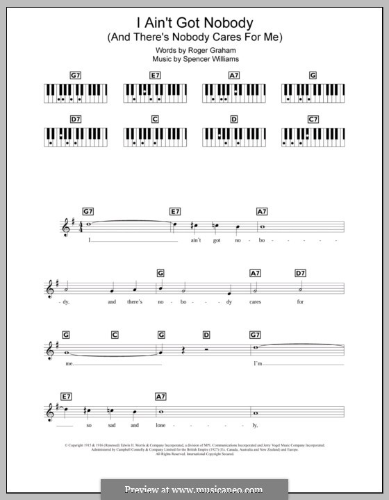 I ain't Gonna Give Nobody None of This Jelly Roll (Louis Armstrong): For keyboard by Spencer Williams