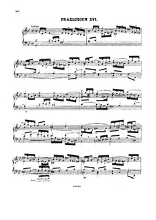 Prelude and Fugue No.16 in G Minor, BWV 885: For harpsichord by Johann Sebastian Bach