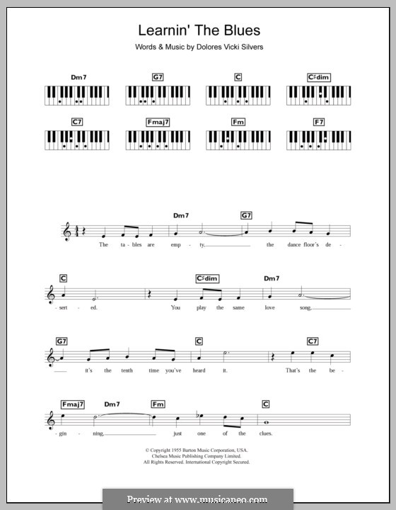 Learnin' the Blues (Katie Melua): For keyboard by Dolores Vicki Silvers