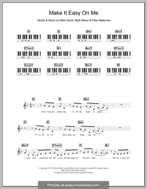 Make It Easy on Me (Steps): For keyboard by Matt Aitken, Mike Stock, Pete Waterman