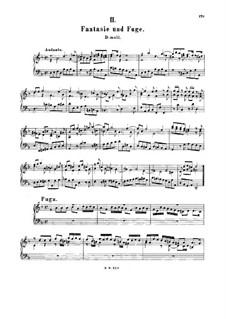 Fantasia, Fugue, Andante and Scherzo, BWV 905: For harpsichord by Johann Sebastian Bach